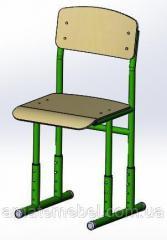 Стул ученический модель 009, гнутоклееная фанера,