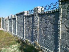 Заборы из камня,гранит для кладки и облицовки