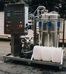 Cleaning in-place systems of CIP, production of