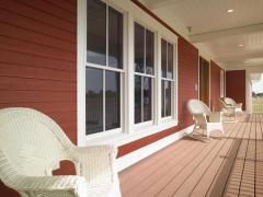 Fibrotsementny plates and siding for verandahs,