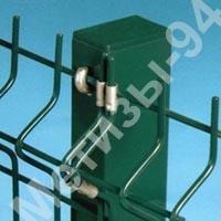 Столб для забора из профильной оцинкованной трубы с полимерным покрытием 60х40х1,5 мм высотой 2,5 м