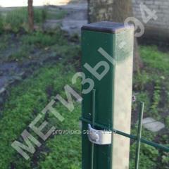 Столб для забора из профильной оцинкованной трубы с полимерным покрытием 50х50х2,0 мм высотой 2,0 м