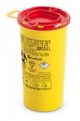 DISPO Контейнер для сбора игл и медицинских отходов емкость 0,5 л. (Из PP, круглый), шт.