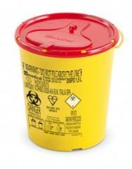 DISPO Контейнер для сбора игл и медицинских отходов емкость 1 л. (Из PP, круглый), шт.