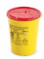 DISPO Контейнер для сбора игл и медицинских отходов емкость 3 л. (Из PP, круглый), шт.