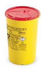 DISPO Контейнер для сбора игл и медицинских отходов емкость 4 л. (Из PP, круглый), шт.