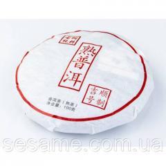 """Чай шу пуэр """"Yi Wu San"""" 100 гр. 2008г...."""