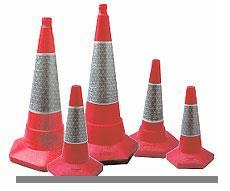 Cones road for a temporary alarm marking