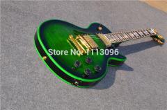 Электрогитара Gibson Les Paul Custom Green Gold