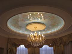 Decorative panels of false ceilings. A plafond