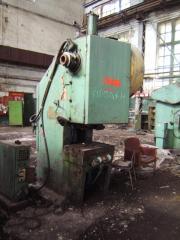 Press krivoshipny opened, effort of 63 t,