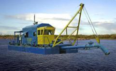 NSS dredges (dredge-pumping shells). PRODUCTION of
