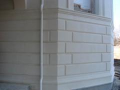 Фасадный камень - известняк, Фасадные работы