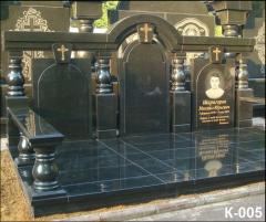 Memorial complexes from granite