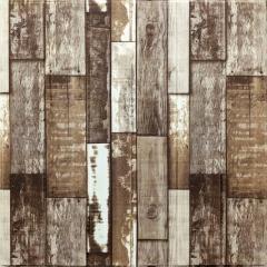 Самоклеюча декоративна 3D панель коричневе дерево