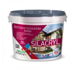 Фасадная силиконовая краска Silacryl Nanofarb 10 л