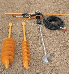 Binger Seilzug hydroborer. Equipment for vineyards