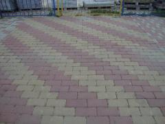 Плитка тротуарная Кирпич 125х250 32шт на м2
