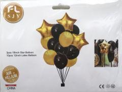 """Воздушные шары латексные набор """"Чорно"""