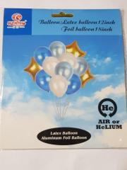 Набор воздушных латексных шаров и фольгированных