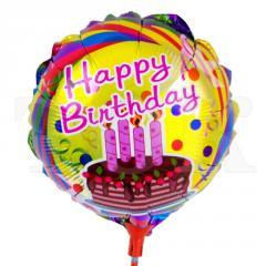 """Фольгированный воздушный шарик """"Happy Bithday"""