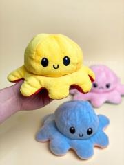 Мягкая игрушка осьминог перевертыш двусторонн