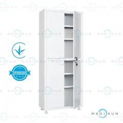 Медицинский шкаф MD 2 1670/SS MEDNOVA (металлический шкафчик двухстворчатый)
