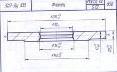 Flange ZSh2-Du 100 production of forgings for