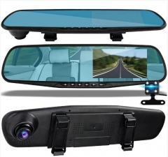 Сенсорный видеорегистратор зеркало K40 экран 10