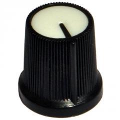 Ручка AG3 для потенціометра чорна з білою вставкою