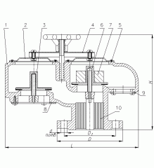 Клапан дыхательный СМДК-150