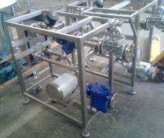 Stations of heating water for processing...