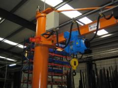 Cranes console wall and on a column rotary 360