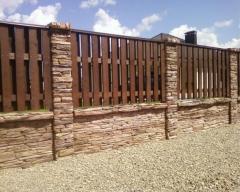 Деревянные заборы штакетник, дощатый забор,