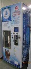 The vending machine on cleaning and sale of water
