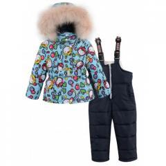 Теплый зимний костюм комбинезон на синтепоне...