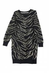 Женское теплое платье - пуловер с абстрактным