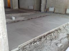 Plaster floors Foam concrete monolithic