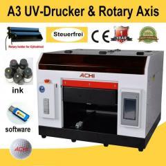 Ультрафиолетовый ACHI принтер формат A3 головка
