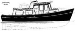 The motor yacht for distant travel