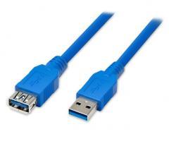 Подовжувач USB 3.0 AM / AF,  0.5m,  Blue, ...