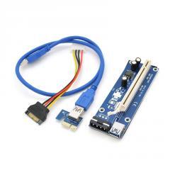 Riser PCI-EX, x1 => x16, 4-pin MOLEX, SATA