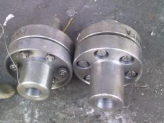 Elastic vtulochno-manual couplings
