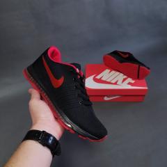 Мужские кроссовки Nike черные с красным
