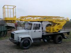 Автовышка локтевая, телескопическая ОПТ-9195