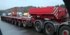 Trawl for transportation of bulky goods