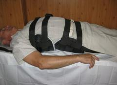 The equipment massage for a backbone