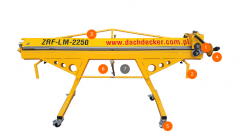 Manual bending machine with cut-off roller