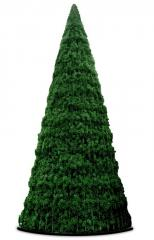 High-rise conical fir-trees from artificial