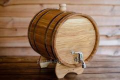 Жбан дубовый для напитков 30 литров (бочка для